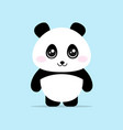 cute panda cartoon concept vector image
