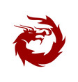 dragon character logo design mascot template vector image vector image