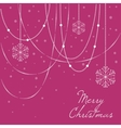 Elegant christmas background with christmas vector image vector image