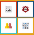 flat icon entertainment set of people poker vector image vector image