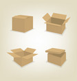 flat icons of cardboard boxes vector image vector image