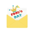 Fools day design envelope vector image