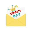 Fools day design envelope vector image vector image