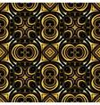 Golden ornamental background on black vector image vector image