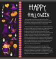 halloween banner with icons on halloween theme vector image vector image