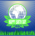 Happy earth day logo against the backdrop of