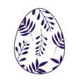 happy easter decorative egg ornament season icon vector image