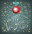 Happy New Year Lettering 2016 card design winter vector image