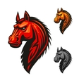 Horse stallion head and mane icon vector image vector image