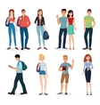 International young people characters and couples vector image