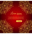 Invitation elegant template gold ornamental frame vector image