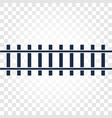 isolated rails railway top view ladder elements vector image vector image