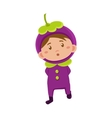 Kid In Mangosteen Costume vector image vector image