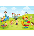 Kids at Playground vector image vector image