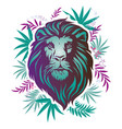 lion head cool lion head decorative flat design vector image