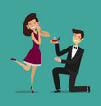 man proposes a woman to marry wedding marriage vector image vector image