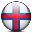 Map with Dot Pattern on flag button of Faroe vector image vector image