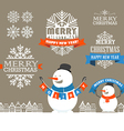 Merry Christmas and a happy New Year wishes vector image vector image