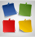 Note color paper with push colored pin template vector image vector image