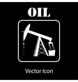 oil pump jack silhouette vector image vector image