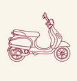 old school scooter vector image