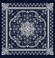 ornament paisley bandana print silk neck vector image vector image