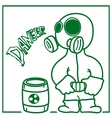 person in a gas mask vector image vector image