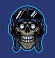 rider skull head mascot logo vector image