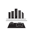 road to the city black concept icon road vector image