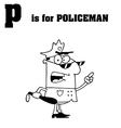Royalty Free RF Clipart Cartoon Alphabet P vector image vector image