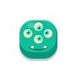 Satisfied Monster Square Icon vector image vector image