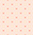 Seamless pattern with hearts and circles vector image vector image