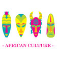set of four color traditional african vector image