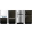 Set of refrigerators in different designs vector image vector image