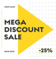 set square web banners for big sale with round vector image vector image