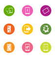 shade icons set flat style vector image