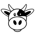simple cartoon of a cute cow vector image vector image
