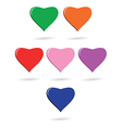 Six hearts vector image