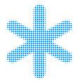 snowflake halftone icon vector image