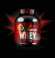 sports nutrition - protein whey vector image vector image