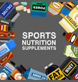 sports nutrition supplement poster fitness