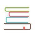 stack books icon school and study symbol vector image