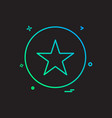 star medal icon design vector image