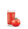tomato juice with whole tomato vector image vector image
