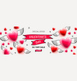 valentines day sale background romantic vector image vector image