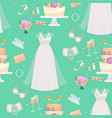 wedding bride dress accessories fashion vector image