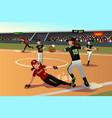 women playing softball vector image vector image