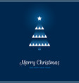 geometric christmas tree on blue background vector image