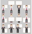 Collection of office worker with posters vector image