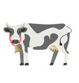 cow flat isolated icon milk dairy product vector image